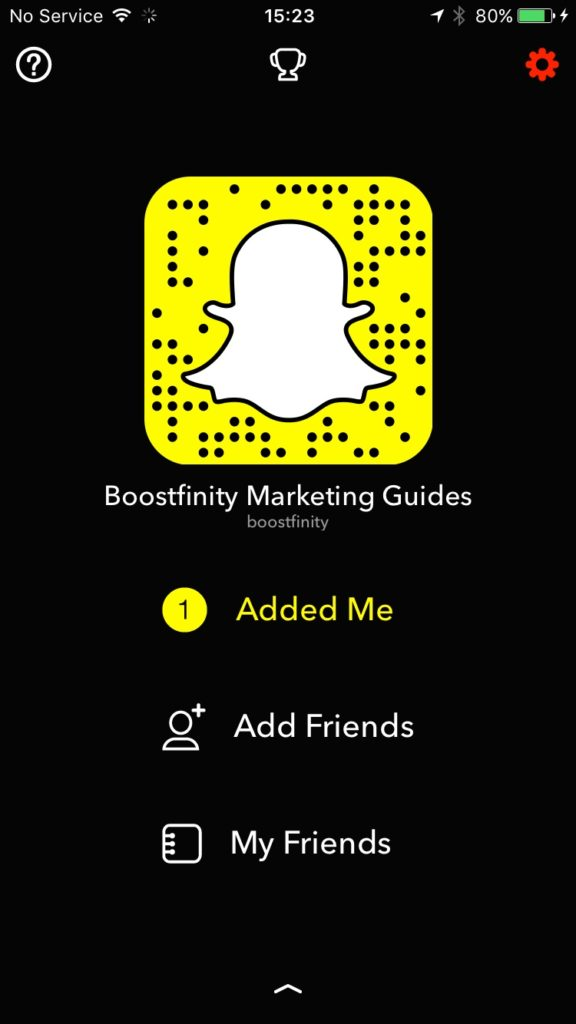 Boostfinity Snapcode