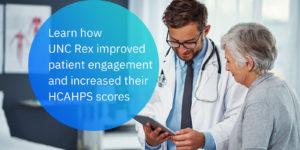 UNC Rex improved engagement social tile
